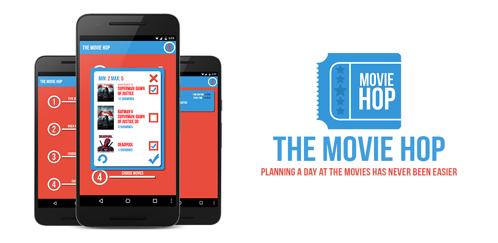 The Movie Hop app makes planning your movie day easier thanever.